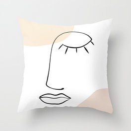 Line Art Beauty Power Nap Throw Pillow