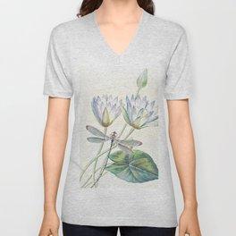 lotus and dragonfly Unisex V-Neck