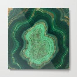 Malachite Texture 06 Metal Print