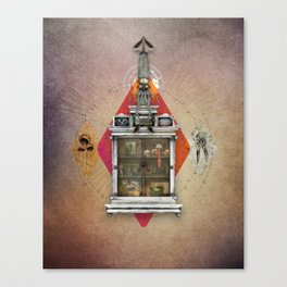 Squid Ascendant Upon the Cabinet of Thackery v.1 Canvas Print