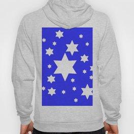 WHITE STARS ON BLUE DESIGN ART Hoody