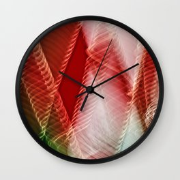Abstract Holiday Plaid Wall Clock