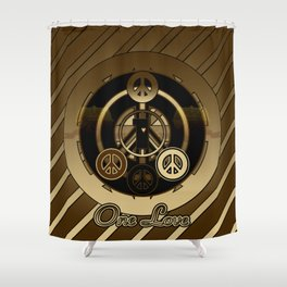 One Love (Brown) Shower Curtain