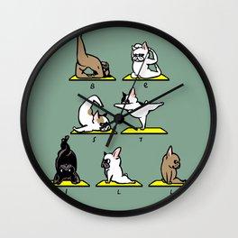 Be Still Alphabet Wall Clock