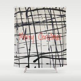 Best foot forward - Merry Christmas Shower Curtain