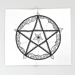 Pentacle Throw Blanket