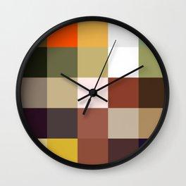 Karkinos - Colorful Pixel Checker Decorative Art Pattern Wall Clock