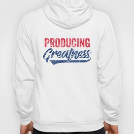 Producing Greatness Motivational Workout Apparel Medium Weathered Hoody