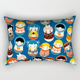 Babushka dolls vibrant pattern Rectangular Pillow