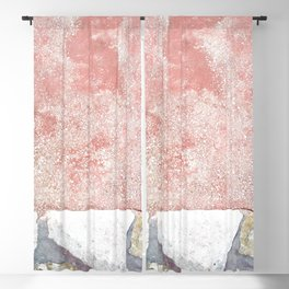 Abstract Pink Art Blackout Curtain