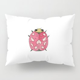 Red insect   Entomology watercolor art Pillow Sham