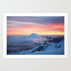 Sunrise on Mt Ngauruhoe  Art Print
