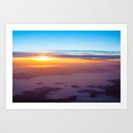 Sunrise over Shasta Art Print