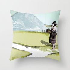 somewhere Throw Pillow
