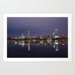 Charles River Boston Skyline Reflection Boston MA Art Print