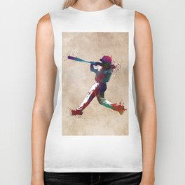Baseball player 10 #baseball #sport Biker Tank