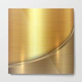 Brushed Gold Metal Print
