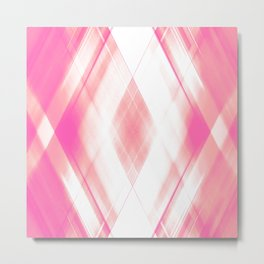 Light warm triangular strokes of intersecting sharp lines with dawn triangles and stripes Metal Print