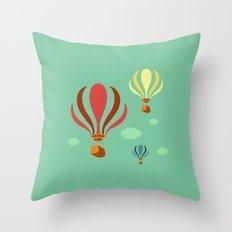 Hot Air Balloon Ride Throw Pillow