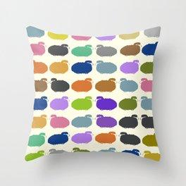 Colorful cartoon sheep pattern Throw Pillow