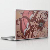 art nouveau Laptop & iPad Skins featuring Art Nouveau by Matita's Art
