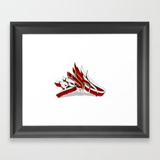 3D GRAFFITI - BOARD Framed Art Print