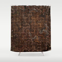 Wooden Weave Pattern Shower Curtain
