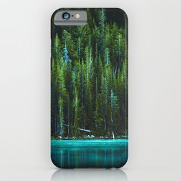 Evergreen Forest on Water (Color) iPhone Case