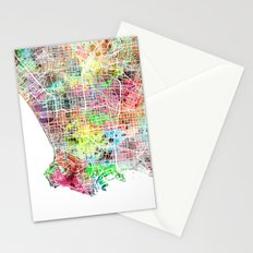 Los Angeles map california Stationery Cards