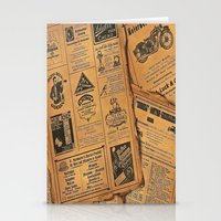 newspaper Stationery Cards featuring old newspaper by Marianna Burk
