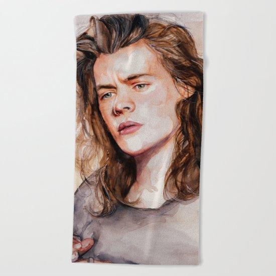 Harry watercolors III Beach Towel