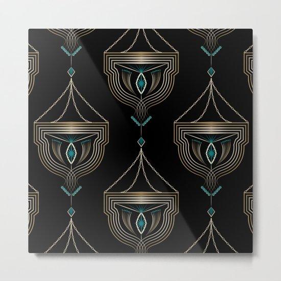"Art Deco . ""Gold pendants "". Metal Print"
