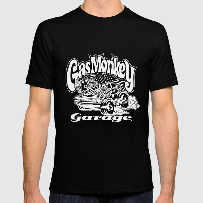 76bebb2ac Official Gmg Gas Monkey Garage Black Hot Rod T-Shirts T-shirt by  diannbillick | Society6