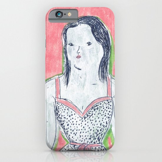 the girl is waiting iPhone & iPod Case