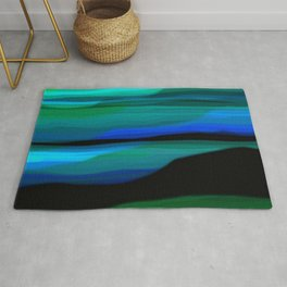 Capture the Moment Landscape in Shades of Green and Blue Rug