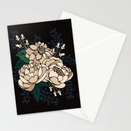 Moody Florals  - Cream Stationery Cards