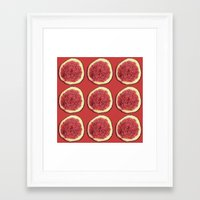fig Framed Art Prints featuring fig by Panic Junkie