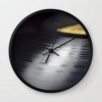 vinyl Wall Clocks featuring Vinyl by Karl Turner