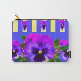 PURPLE PANSIES ON LAVENDER MODERN ABSTRACT ART Carry-All Pouch