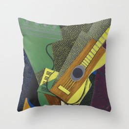 "Juan Gris ""Guitare sur une table (Guitar on a table)"" Throw Pillow"
