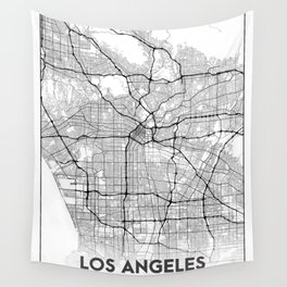 Minimal City Maps - Map Of Los Angeles, California, United States Wall Tapestry