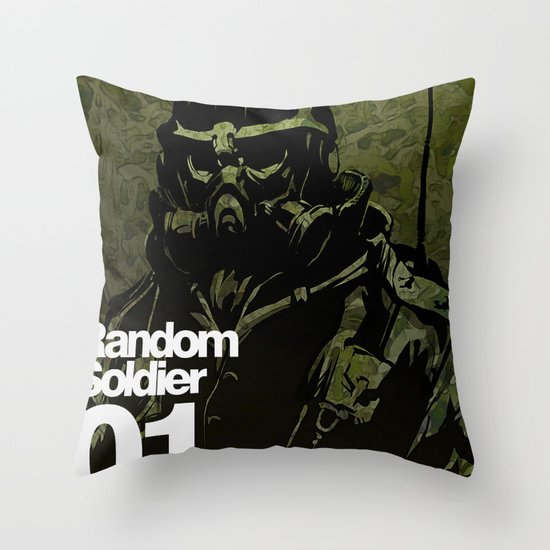 Random Solider 01 Throw Pillow