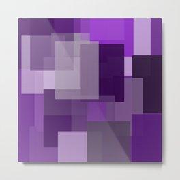 Purple Platter Metal Print