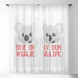 SAVE OUR WILDLIFE Sheer Curtain
