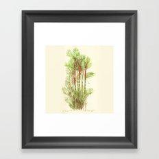 Palmier Rouge - Red Palmtree Framed Art Print