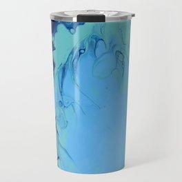 Colorful Celebration 2 Abstract Modern Fluid art Travel Mug