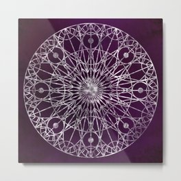Rosette Window - Violet Metal Print