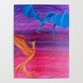Everlasting Love - Dragon and Phoenix Poster