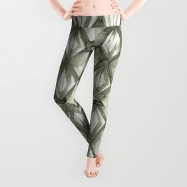 Braided Diamond Simply Green Tea on Lunar Gray Leggings