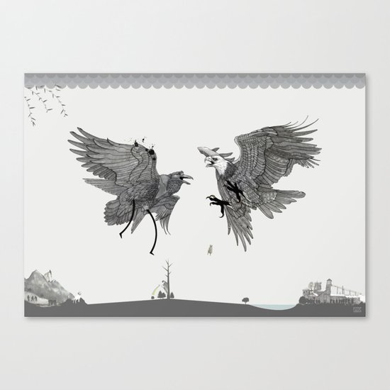 Battle for the Tree of Life Canvas Print